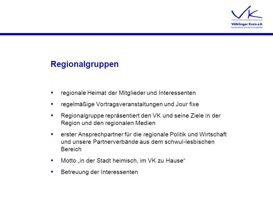 Regionalgruppen regionale Heimat der Mitglieder und Interessenten