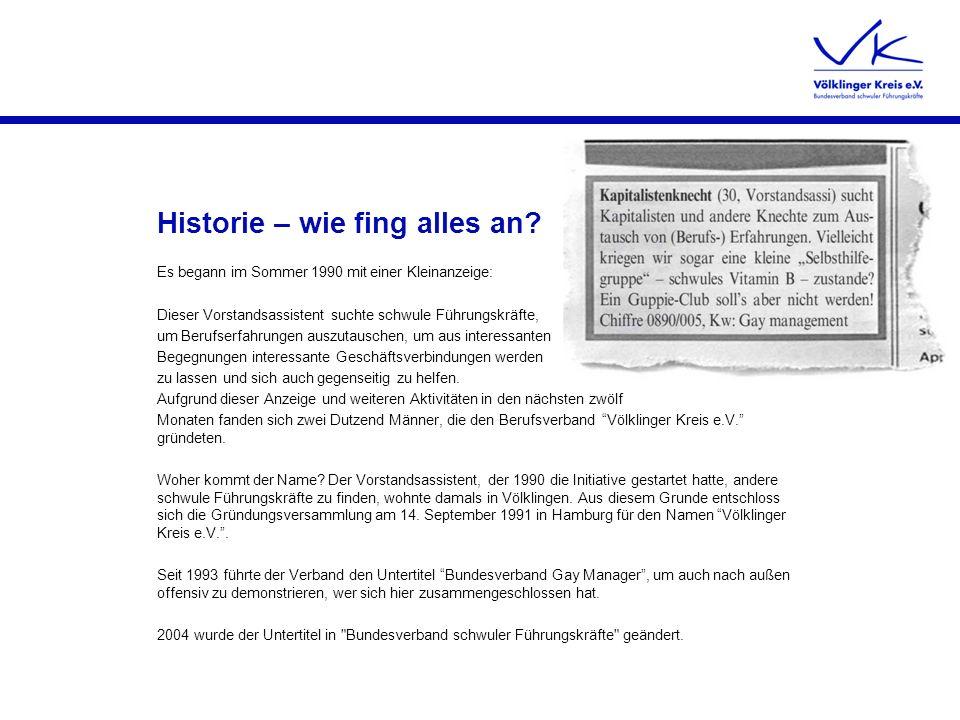 Historie – wie fing alles an
