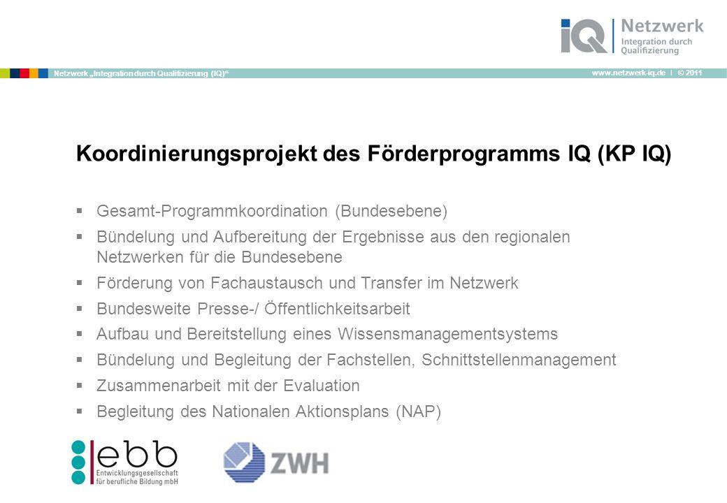 Koordinierungsprojekt des Förderprogramms IQ (KP IQ)