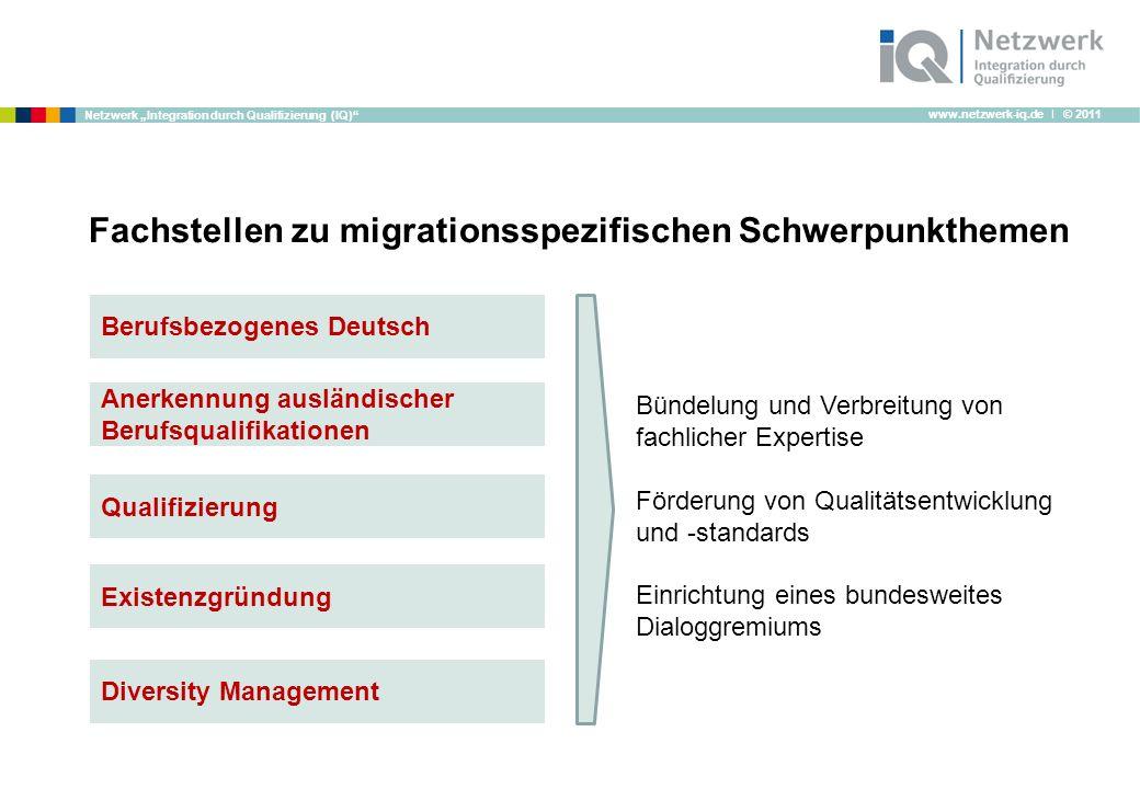 Fachstellen zu migrationsspezifischen Schwerpunkthemen