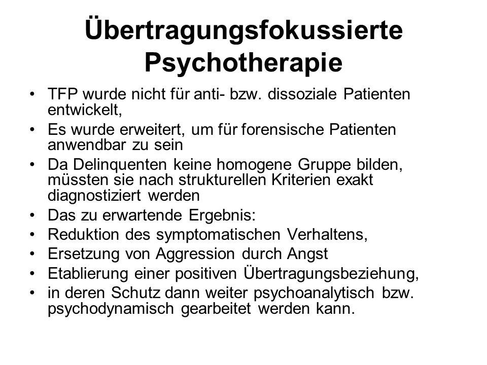 Übertragungsfokussierte Psychotherapie