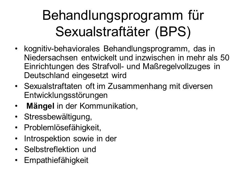 Behandlungsprogramm für Sexualstraftäter (BPS)