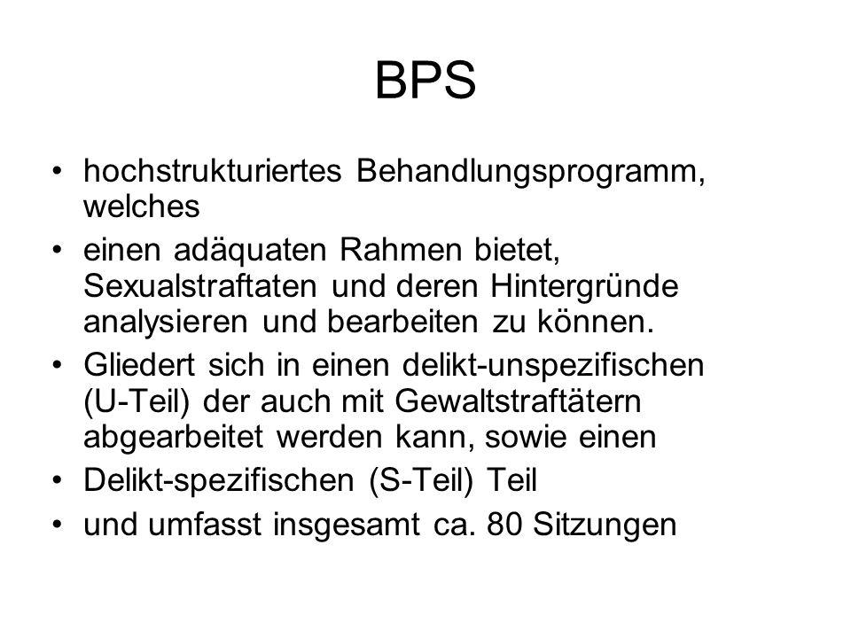BPS hochstrukturiertes Behandlungsprogramm, welches