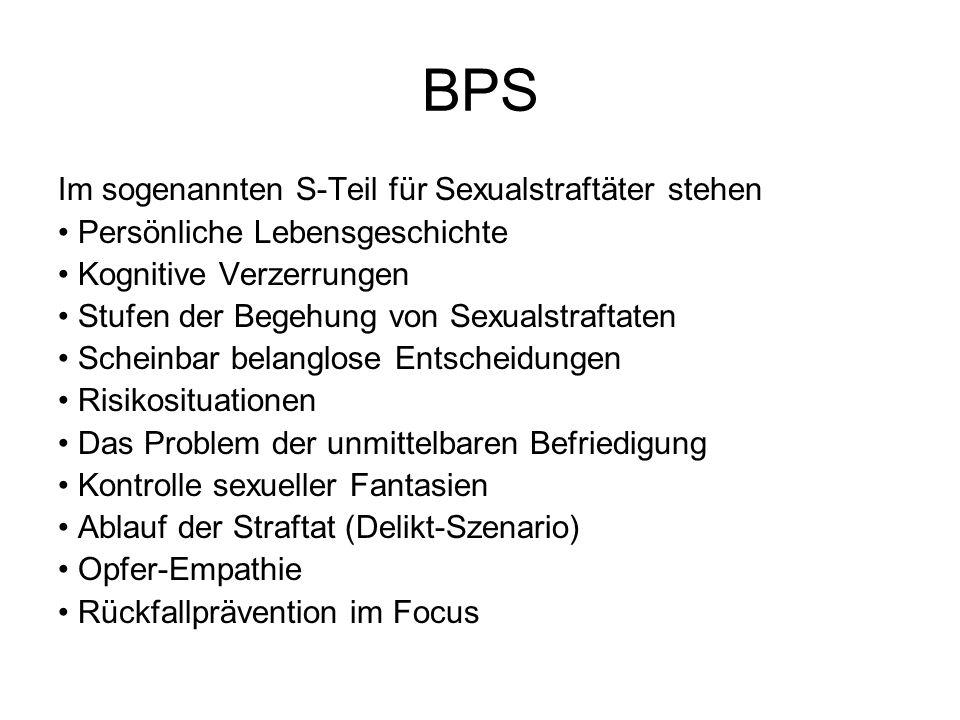 BPS Im sogenannten S-Teil für Sexualstraftäter stehen