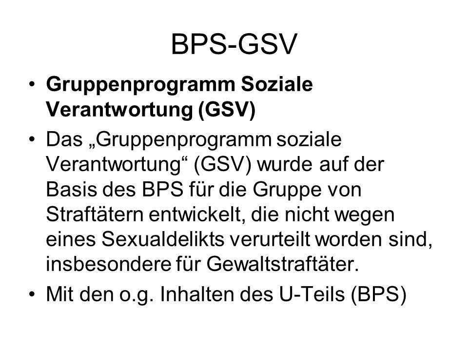 BPS-GSV Gruppenprogramm Soziale Verantwortung (GSV)