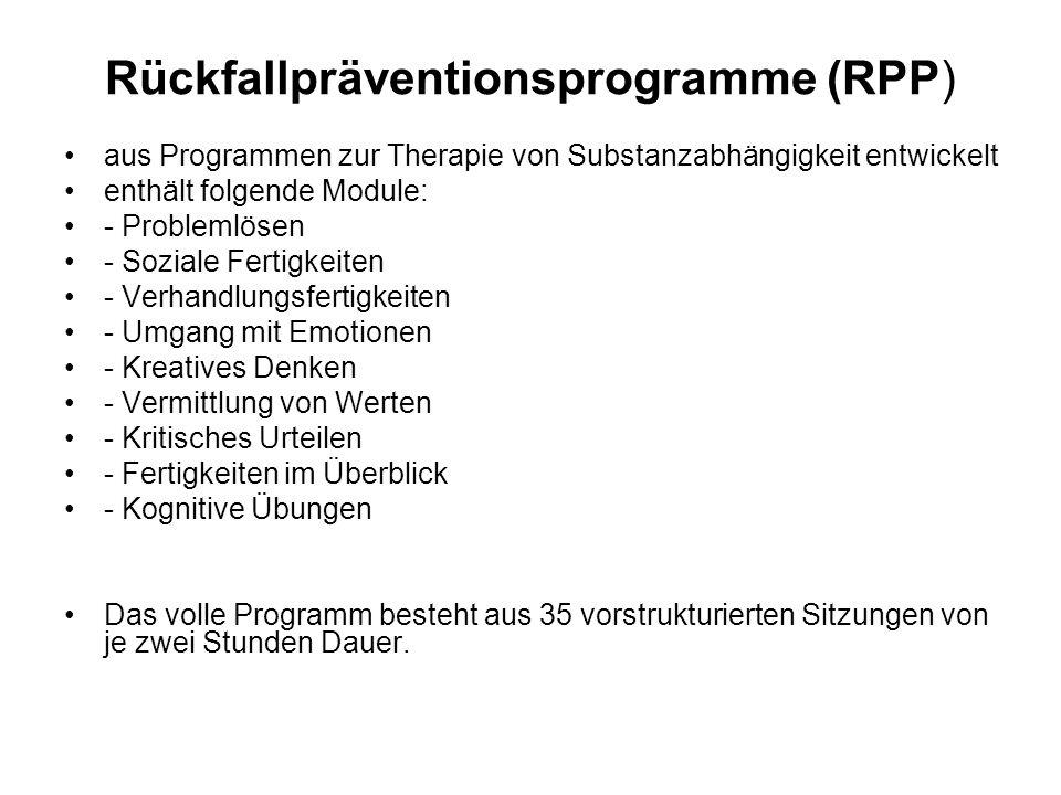 Rückfallpräventionsprogramme (RPP)