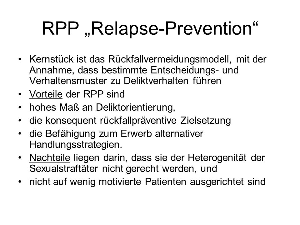 "RPP ""Relapse-Prevention"