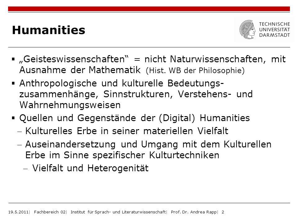 """Humanities """"Geisteswissenschaften = nicht Naturwissenschaften, mit Ausnahme der Mathematik (Hist. WB der Philosophie)"""