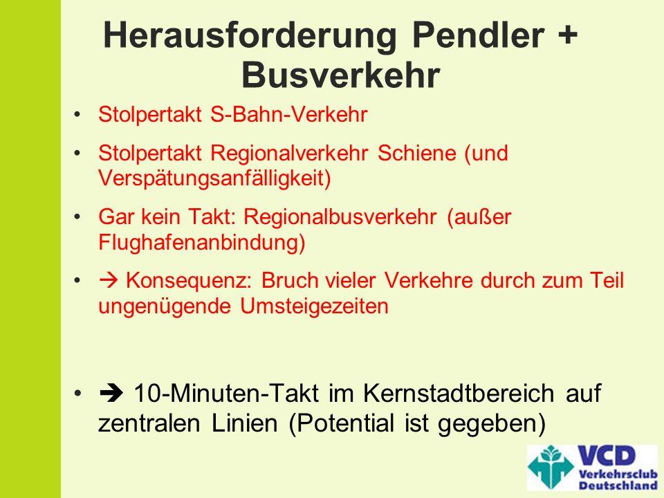 Herausforderung Pendler + Busverkehr