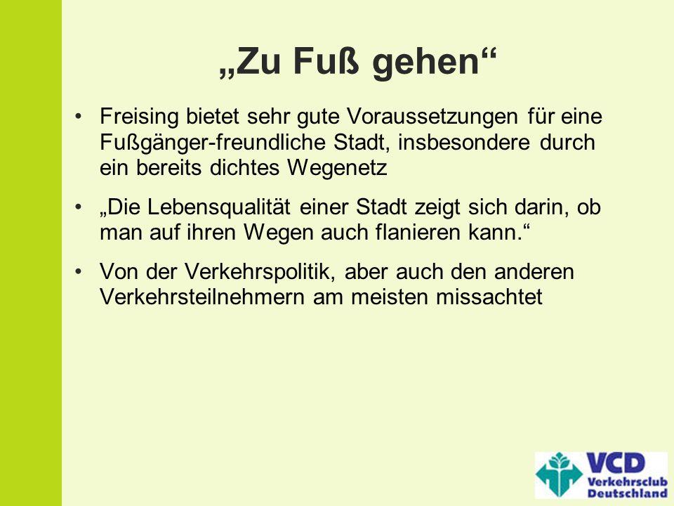 """""""Zu Fuß gehen Freising bietet sehr gute Voraussetzungen für eine Fußgänger-freundliche Stadt, insbesondere durch ein bereits dichtes Wegenetz."""