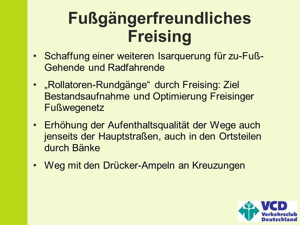 Fußgängerfreundliches Freising
