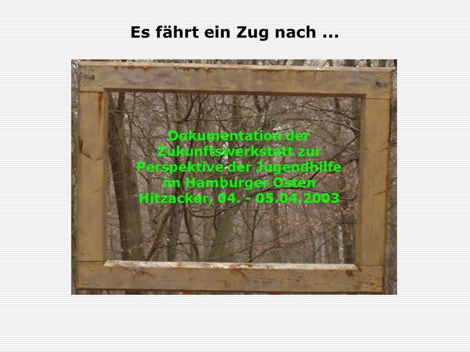 Es fährt ein Zug nach ... Dokumentation der Zukunftswerkstatt zur Perspektive der Jugendhilfe im Hamburger Osten.