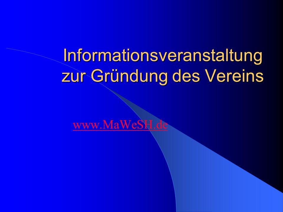 Informationsveranstaltung zur Gründung des Vereins