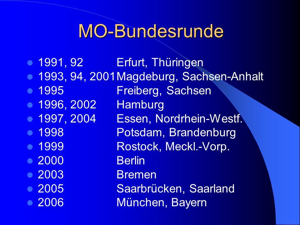 MO-Bundesrunde 1991, 92 Erfurt, Thüringen
