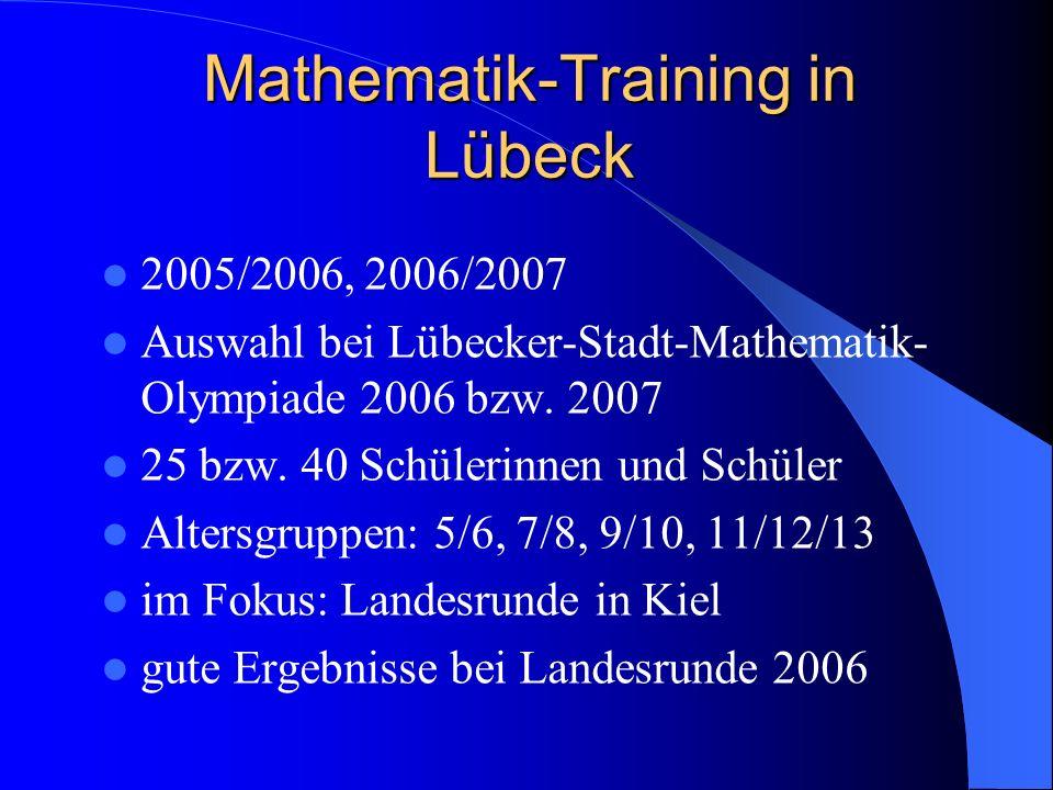 Mathematik-Training in Lübeck