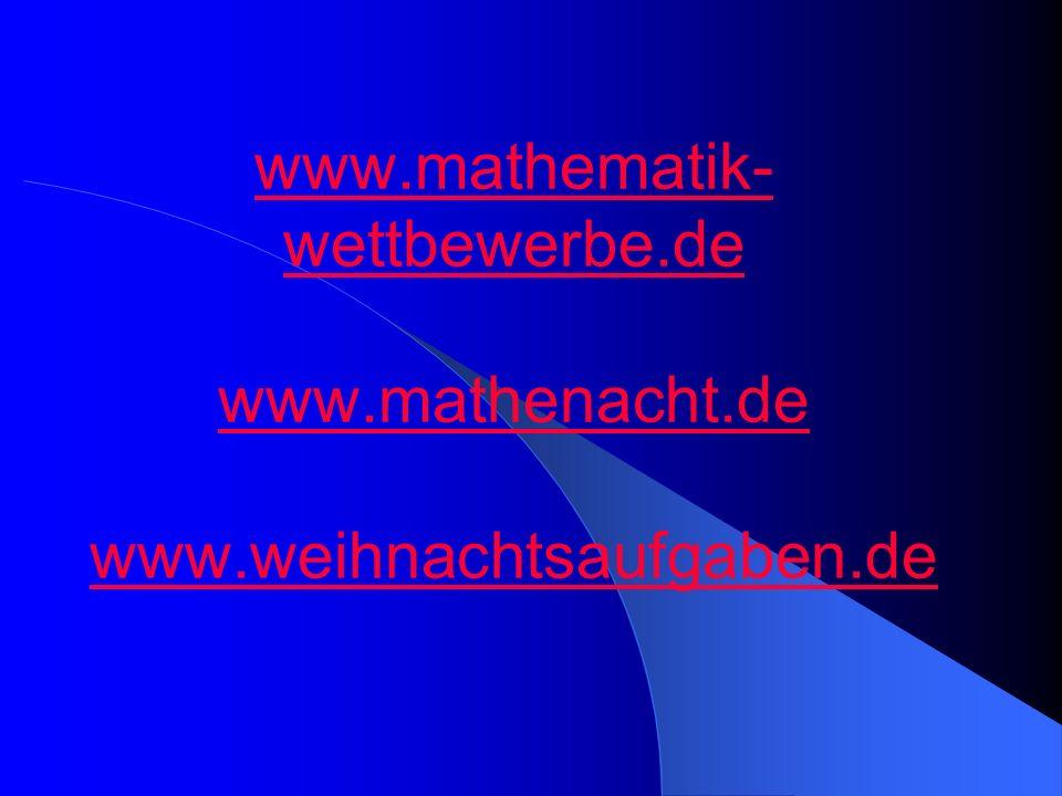www. mathematik-wettbewerbe. de www. mathenacht. de www