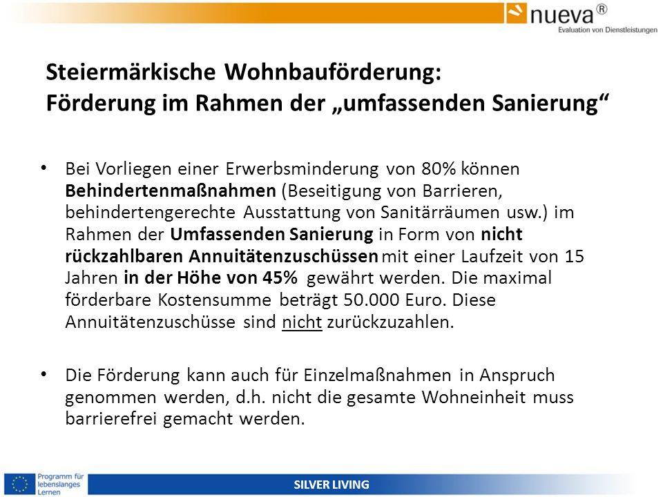 """Steiermärkische Wohnbauförderung: Förderung im Rahmen der """"umfassenden Sanierung"""