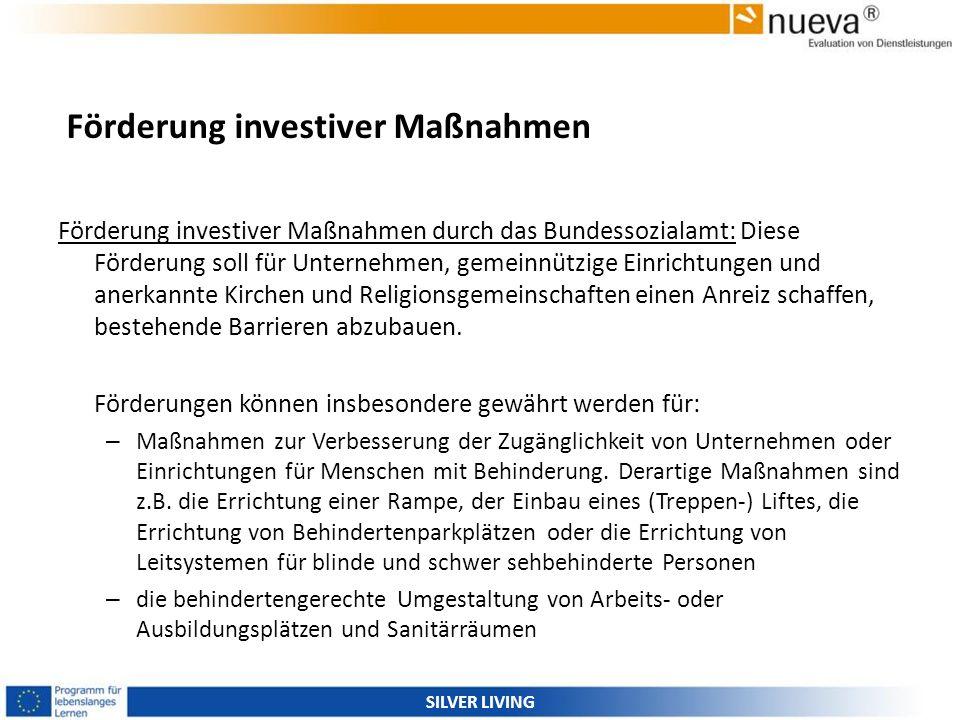Förderung investiver Maßnahmen