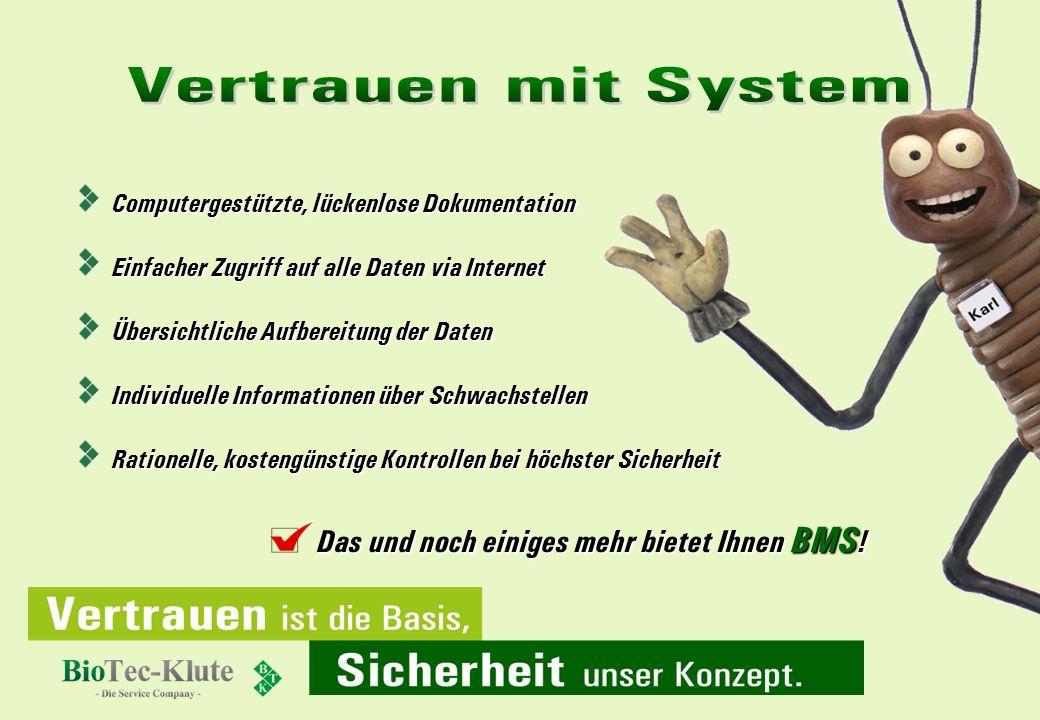 Vertrauen mit System Das und noch einiges mehr bietet Ihnen BMS!