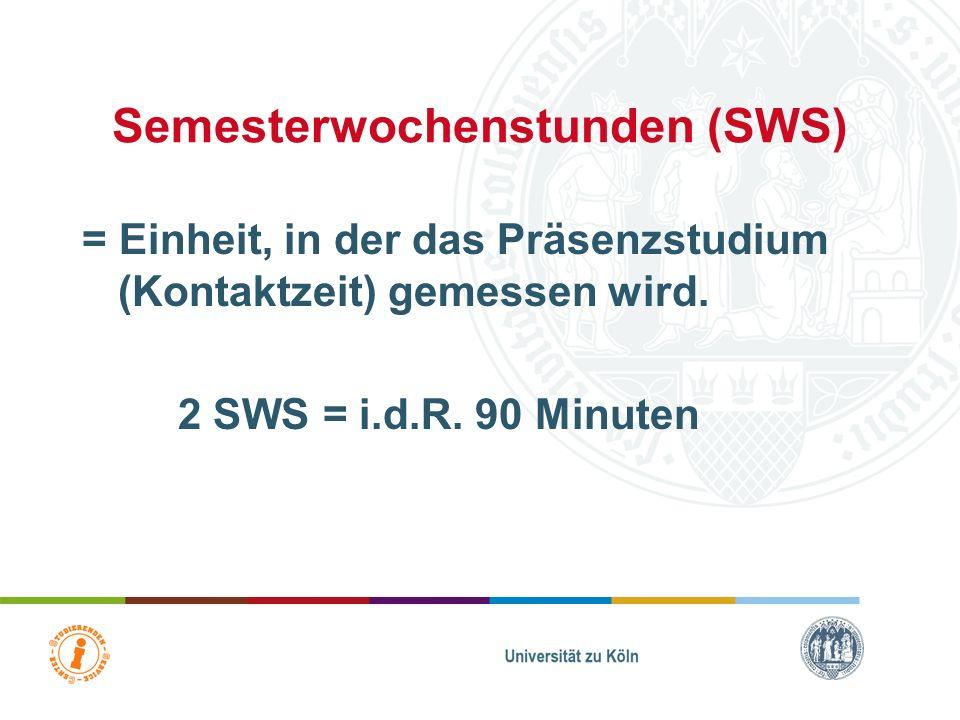 Semesterwochenstunden (SWS)