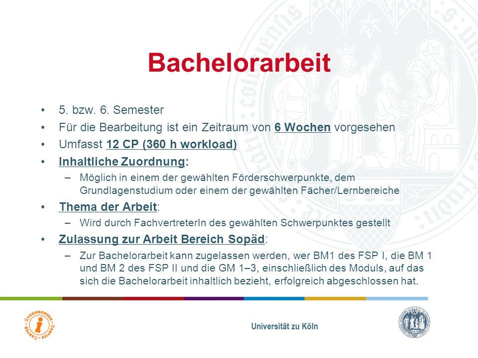 Bachelorarbeit 5. bzw. 6. Semester