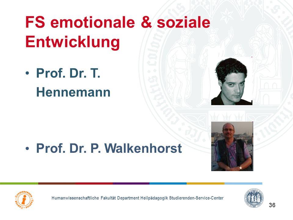 FS emotionale & soziale Entwicklung