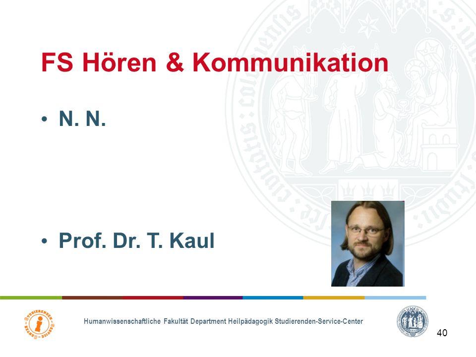 FS Hören & Kommunikation