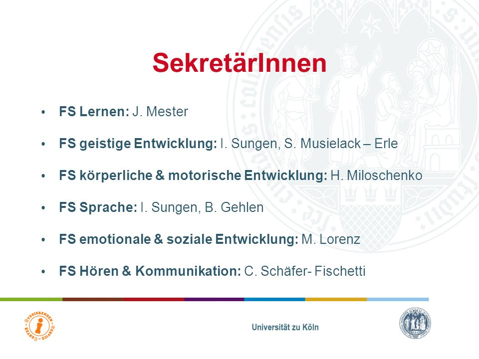 SekretärInnen FS Lernen: J. Mester