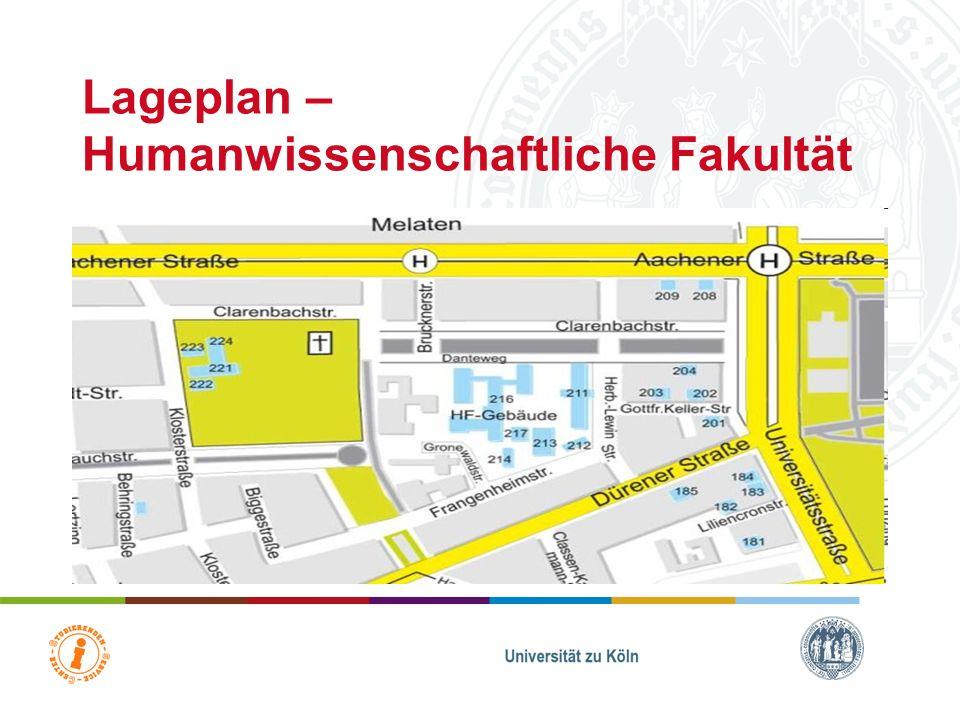 Lageplan – Humanwissenschaftliche Fakultät
