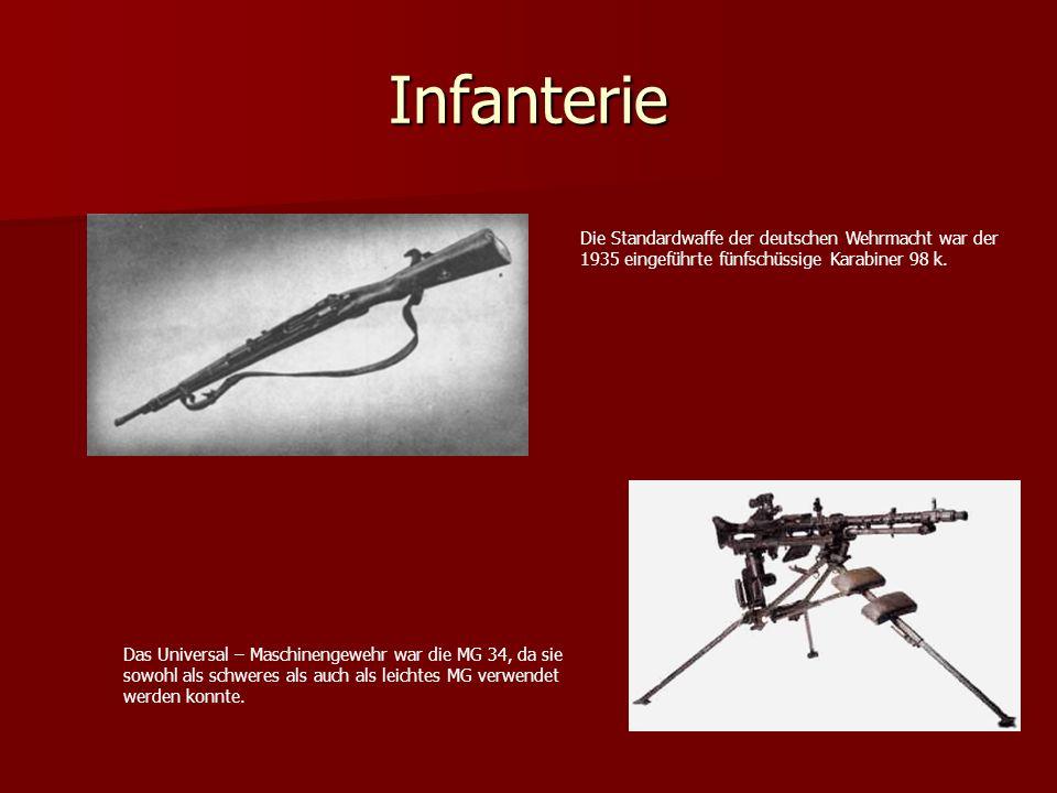 Infanterie Die Standardwaffe der deutschen Wehrmacht war der
