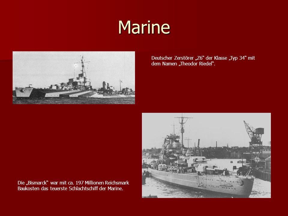 """Marine Deutscher Zerstörer """"Z6 der Klasse """"Typ 34 mit"""