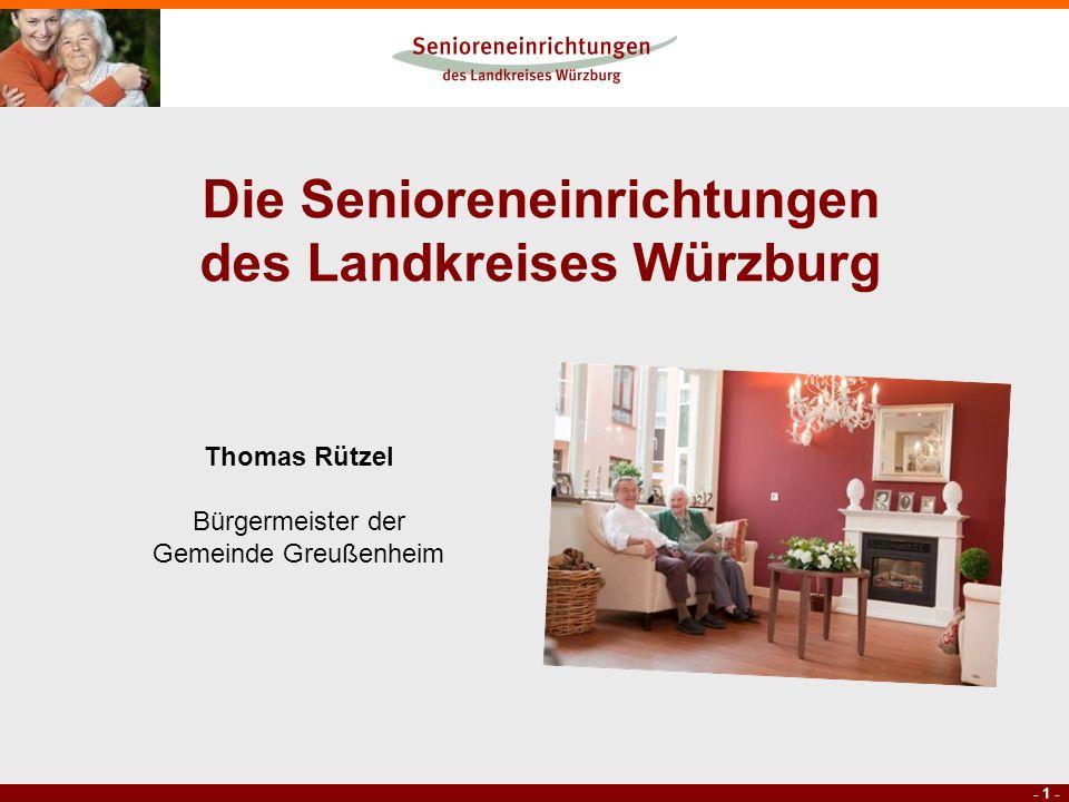 Die Senioreneinrichtungen des Landkreises Würzburg