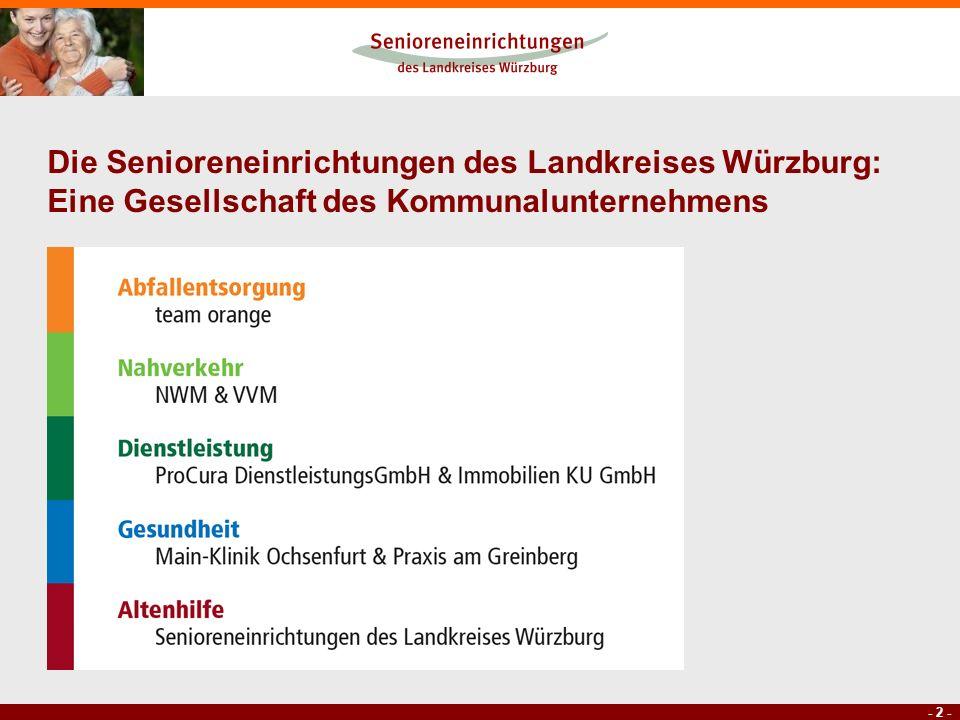 Die Senioreneinrichtungen des Landkreises Würzburg: Eine Gesellschaft des Kommunalunternehmens