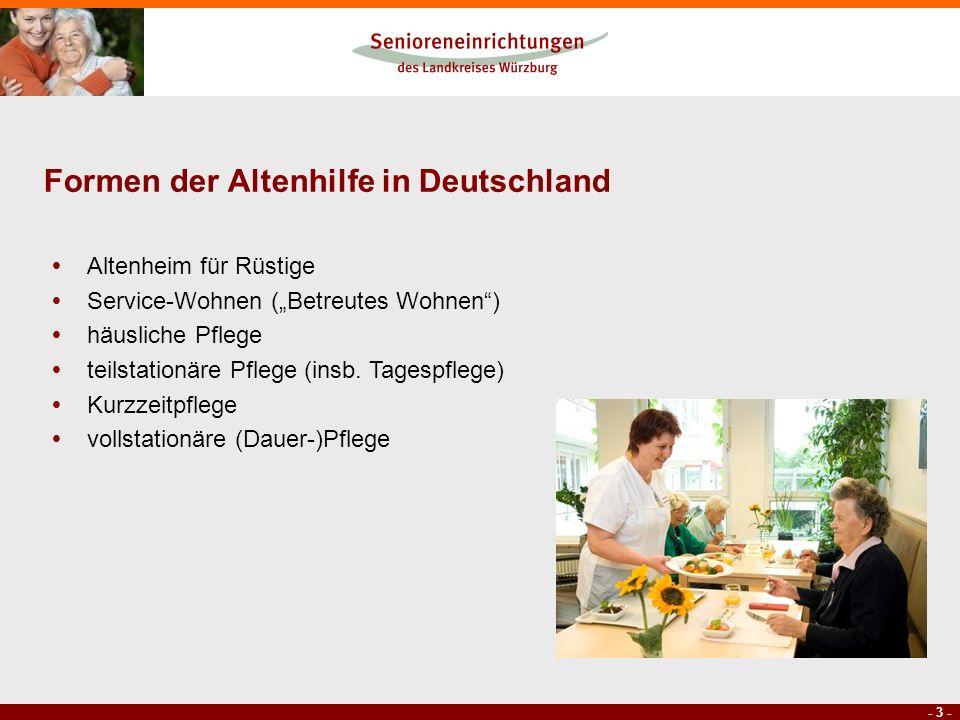 Formen der Altenhilfe in Deutschland