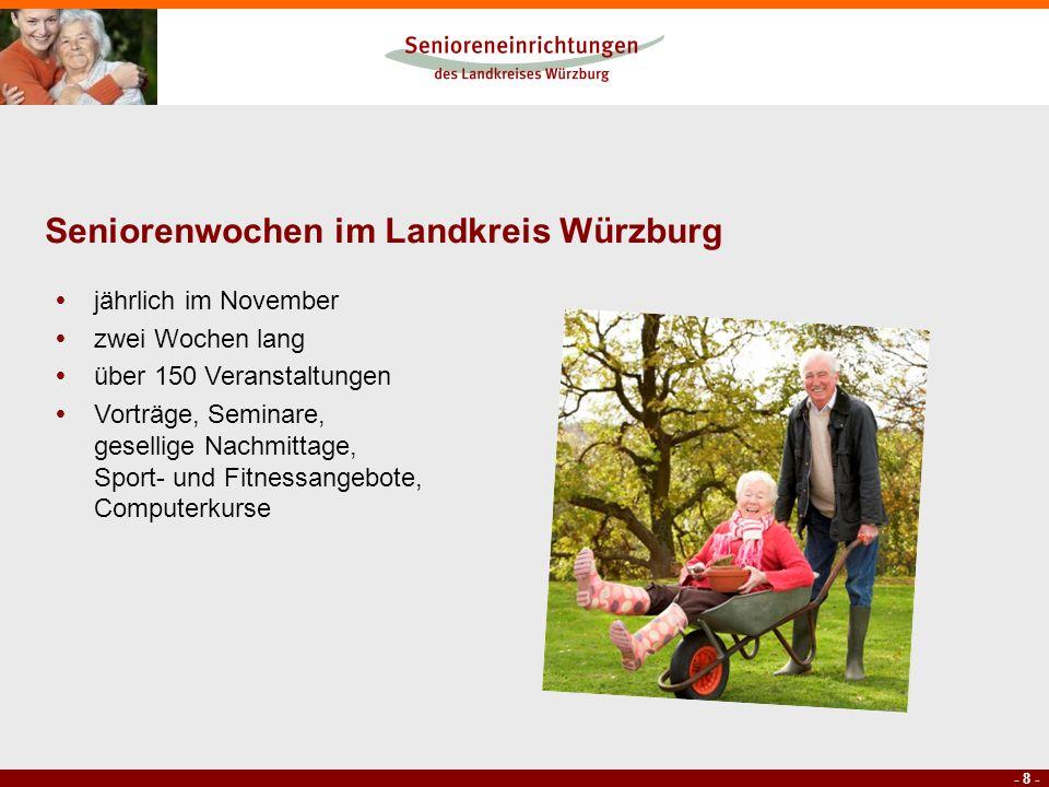 Seniorenwochen im Landkreis Würzburg