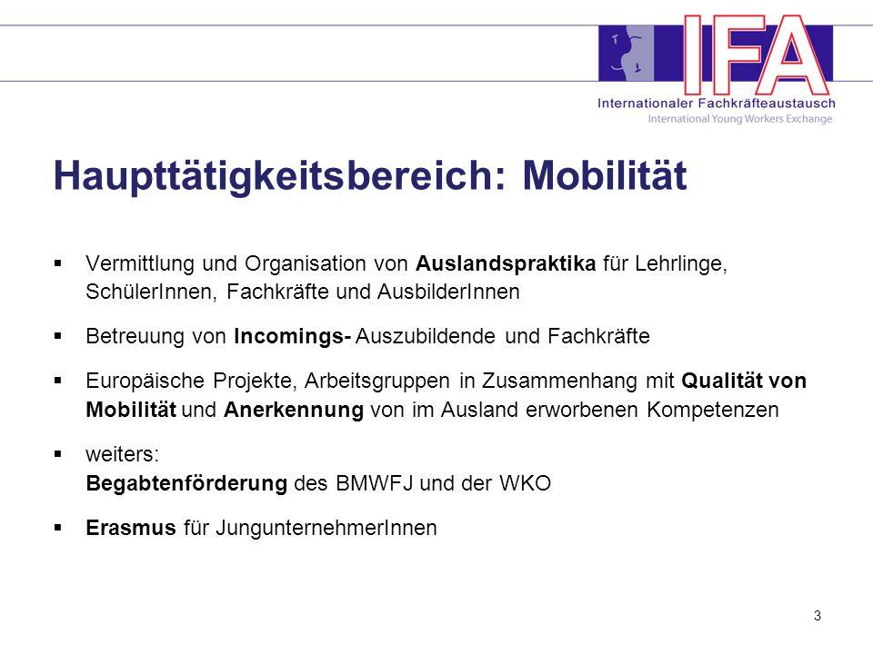 Haupttätigkeitsbereich: Mobilität