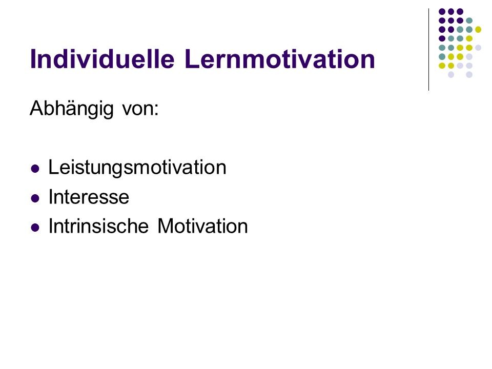 Individuelle Lernmotivation
