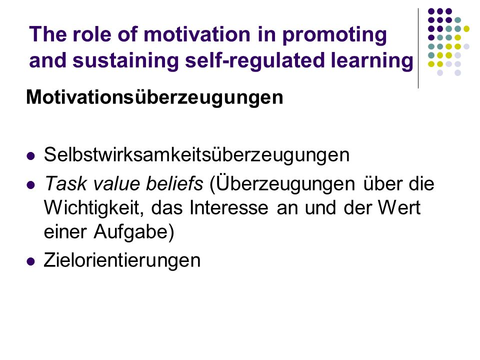 the role of motivation in the students learning prowess A conceptual model of academic success for student assessing what really matters to student learning: the role of motivation in the academic preparation of.
