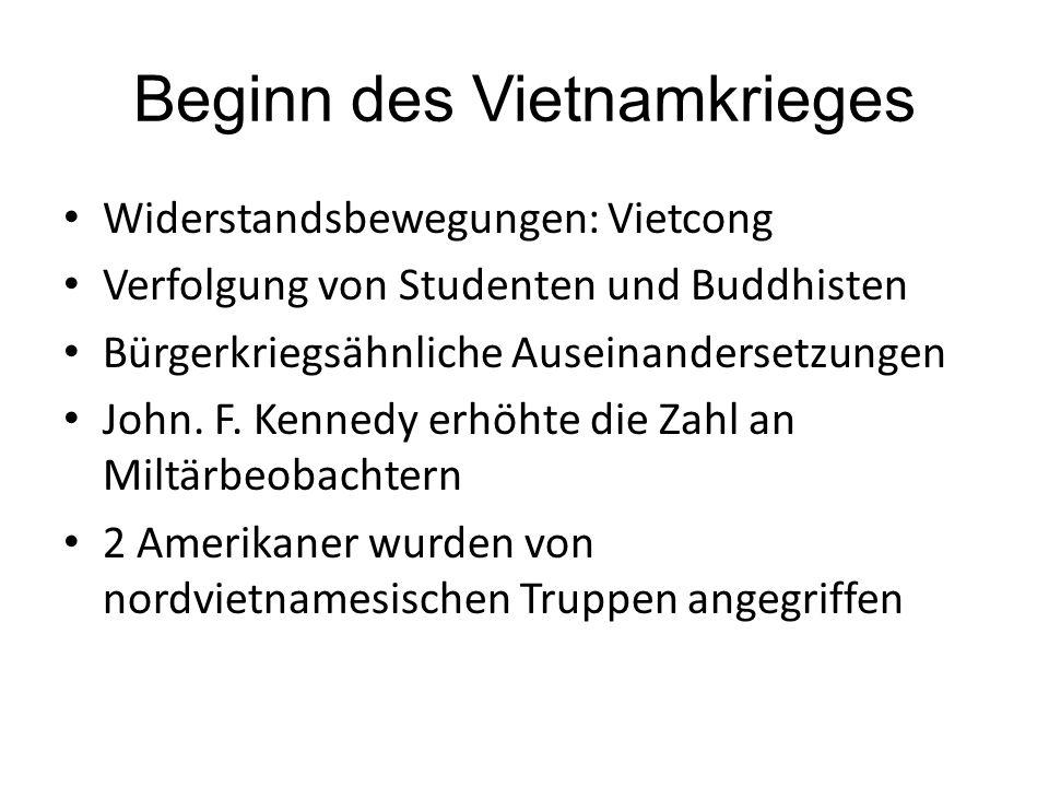 Beginn des Vietnamkrieges