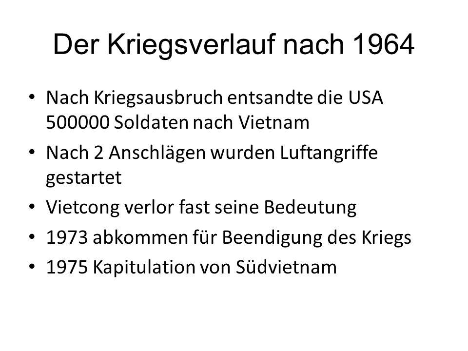 Der Kriegsverlauf nach 1964