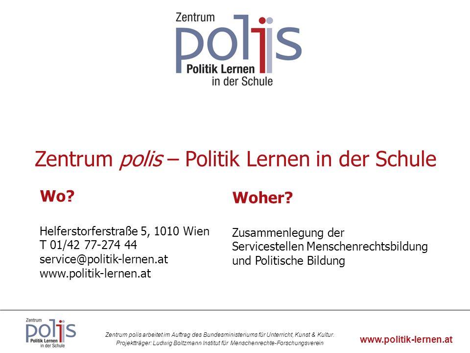 Zentrum polis – Politik Lernen in der Schule