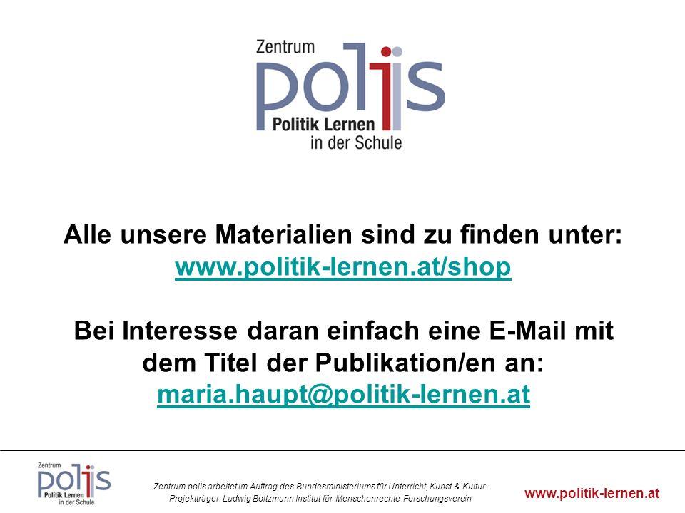 Alle unsere Materialien sind zu finden unter: www. politik-lernen