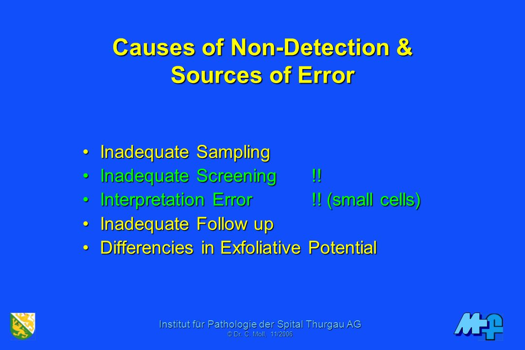 Causes of Non-Detection & Sources of Error