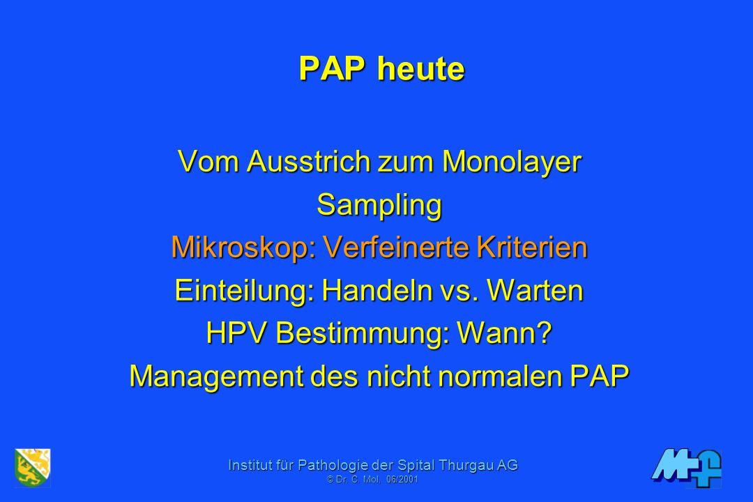 PAP heute Vom Ausstrich zum Monolayer Sampling