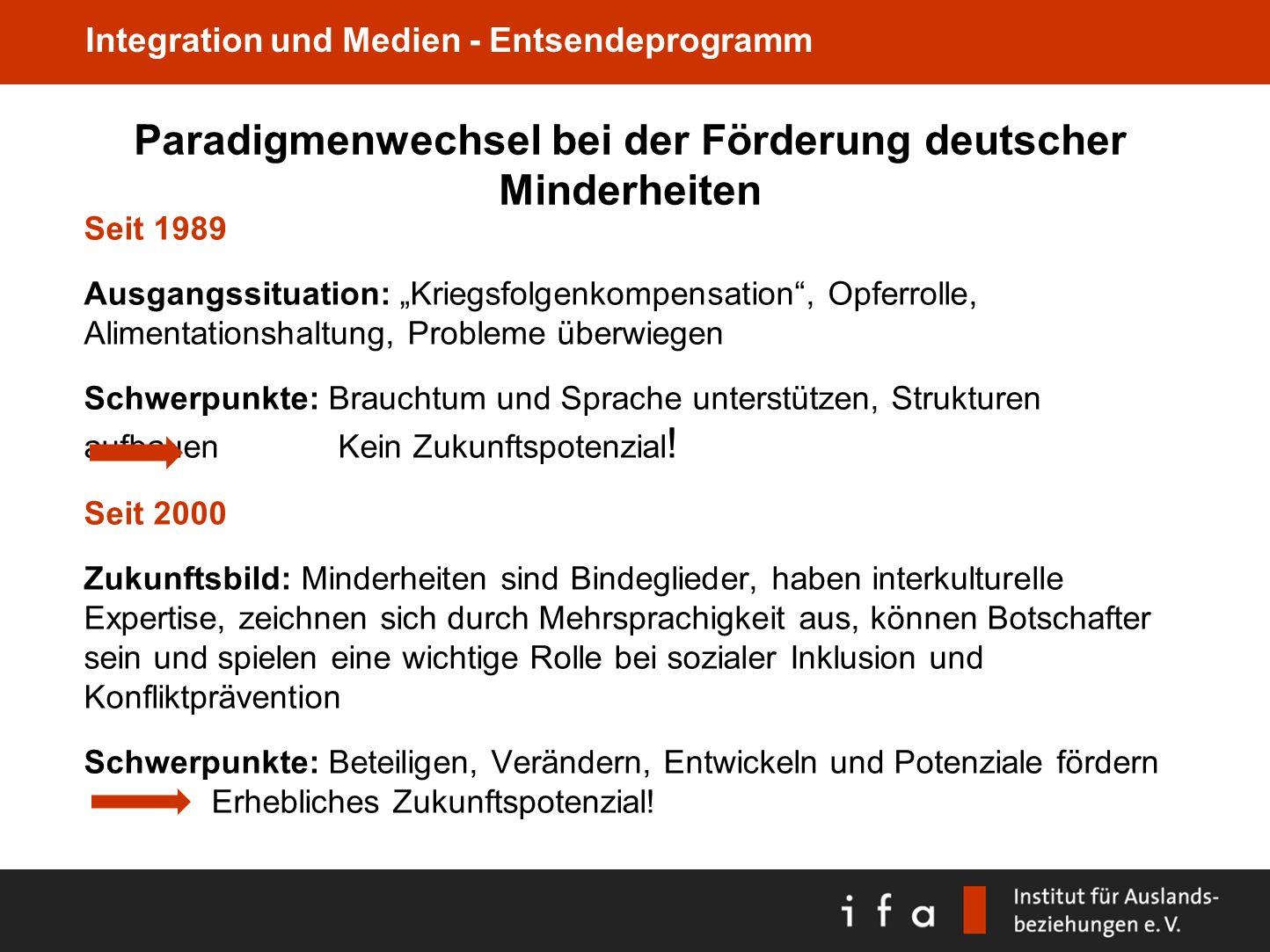 Paradigmenwechsel bei der Förderung deutscher Minderheiten