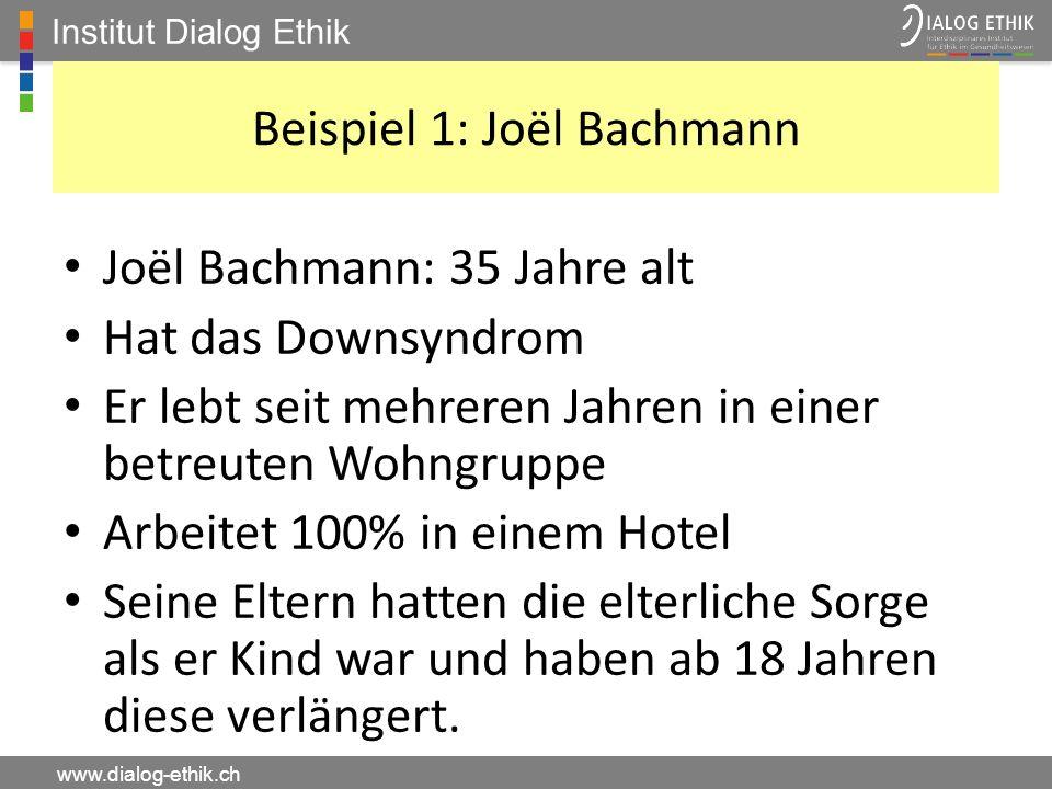 Beispiel 1: Joël Bachmann
