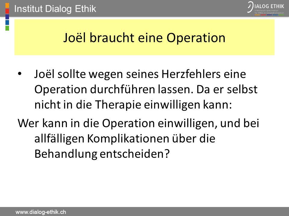 Joël braucht eine Operation