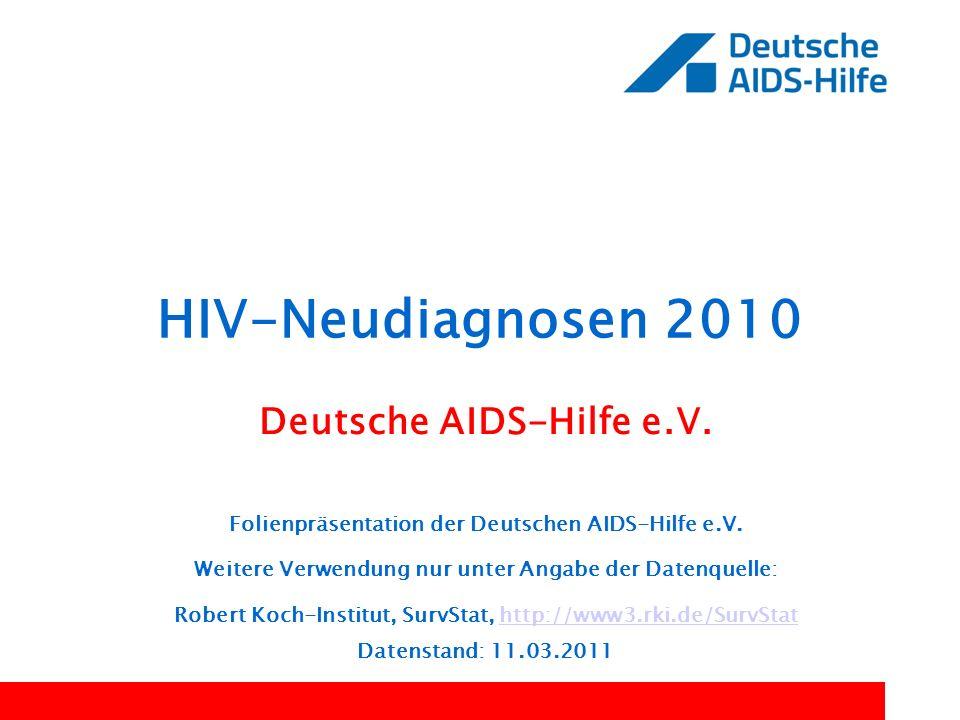 HIV-Neudiagnosen 2010 Deutsche AIDS-Hilfe e.V.