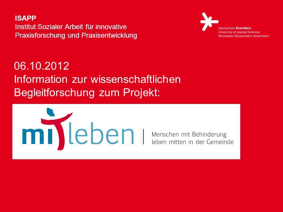 ISAPP Institut Sozialer Arbeit für innovative Praxisforschung und Praxisentwicklung.