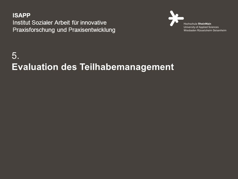 5. Evaluation des Teilhabemanagement